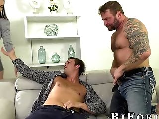 Sovereign Syre Has Joy With Colby Jansen And Another Bisexual Stud