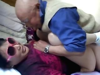 Asian Granny Is Having Joy With Grand-pa