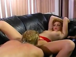 Red-haired Swapper Cougar Messy Facial Cumshot
