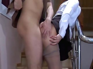 Assistant Has Fuck-fest In Pantyhose