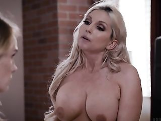 Hot Wifey Christie Stevens Invites Youthful Chick For Threesome