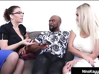 Fuck-fest Fiend Nina Kayy Bangs Big Black Cock Bf & Mummy Lawyer Sara Jay!