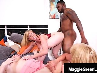 Sara Jay, Maggie Green & Karen Fisher Share Big Black Cock Rome Major!
