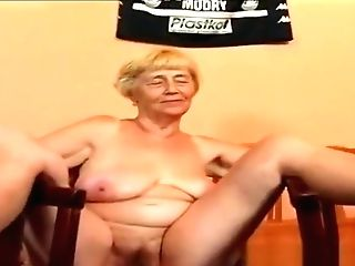 Granny Vera With A Hook-up Machine