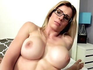 Cheating Cougar With Big Boobies Gives Up Her Rump And Guzzles - Cory Chase