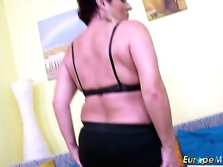 Abominable Chubby Matures Whore Is Glad To Pet Her Own Greedy Old Cunt