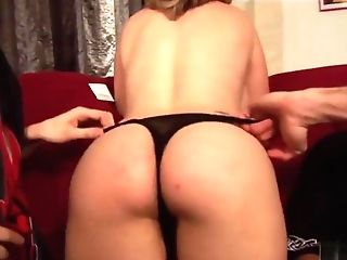 Stunner With Faux Tits Bangs Two Friends