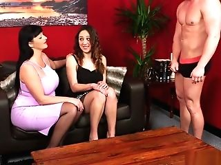 Cfnm Mistress Gobbles Nude Morons Beef Whistle