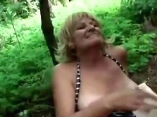 Chesty Granny Gets Fucked In The Forest