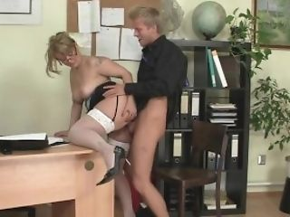 Office Fuck-fest With Lovely Old Women