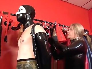 Lady Mercedes Have Fun With Rubberdoll