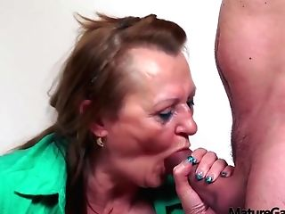 Big Titted, Czech Matures Is Wearing Black Stockings While Getting Her Daily Dose Of Fuck
