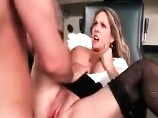 Nasty Blonde Cougar Angela Atti Deep-throats