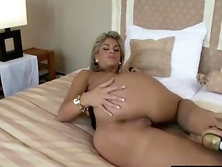 Horny Mummy Masturbates On The Couch