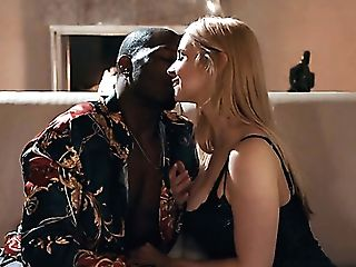 Hot Like Hell Milky Nymphomaniac Sarah Vandella Takes Big Black Cock Into Her Twat For Rear End