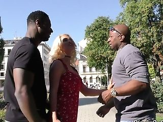 Finish Whore With Big Bumpers Sienna Day Is Fucked By Two Immense Black Strangers